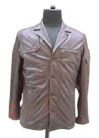 Mens Safari Look Leather Jacket