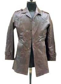 Mens Waist Length Leather Jacket