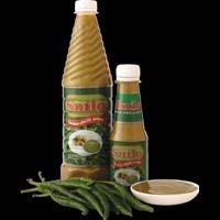 Green Chilli Sauce Bottle
