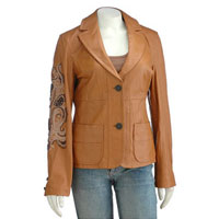 Ladies Leather Blazer - North Waves International Limited