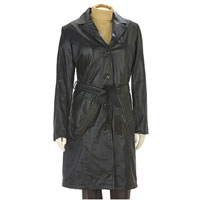 Ladies Leather Long Coat - North Waves International Limited