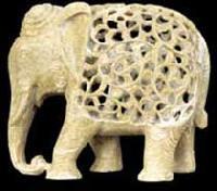 Carved Stone Elephant Statue
