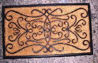 Rubber moulded coir brush mat 4