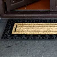 Rubber moulded coir brush Grill Mat 2