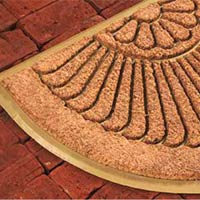 Rubber moulded coir brush mat 3