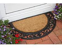 Rubber moulded coir brush Grill Mat 6