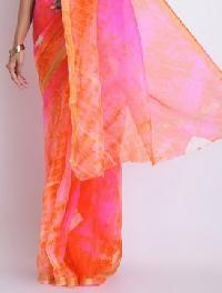 dyed nylon x cotton sarees