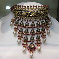 Kundan Meena Necklace