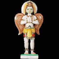 White Marble Lord Garuda Statues