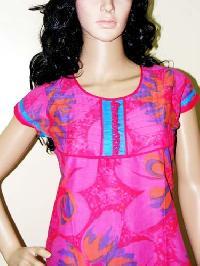 Pink Printed Kurti