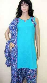 Sky Blue Patiala Salwar Suit