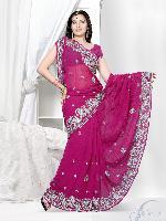 Indian Designer Saree, Heavy Work Party Wear Saree