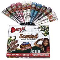 Dezee Scented Arabic Henna Paste Cone (multicolor)