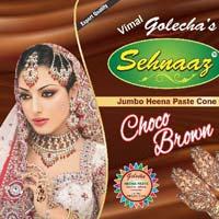 Golecha Sehnaaz Instant Henna Paste Cone (choco Brown Color)
