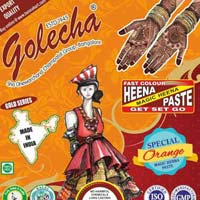 Golecha Sehnaaz Instant Henna Paste Cone (Orange Color)