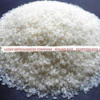 white round rice