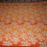 Jaipuri Cotton Quilt Double Bed Orange Colour