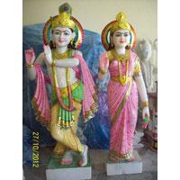 Marble Color Radha Krishna Statues