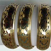 Brass Acrylic Bangles