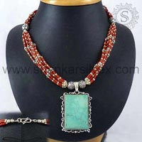 Sterling Silver Necklaces NKCB1073-6