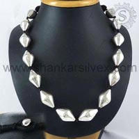Sterling Silver Necklaces NKPS1051-1