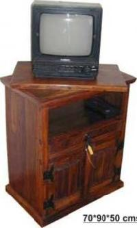 Wooden TV Corner SAC -04 - Seema Arts & Crafts