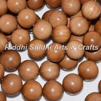 Carved Sandalwood Beads