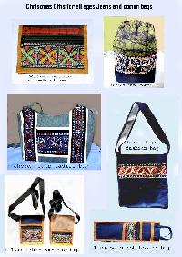 $19 Christmas Gift Cotton  Bags, Jeans Bags
