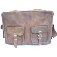 Vintage Goat Leathe Vanity Bag With Front Pockets