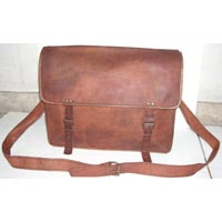Vintage Goat Leather Laptop Bag, Vintage Goat Leather Office Bag