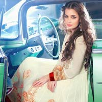 White Colour Designer Party Wear Salwar Kameez