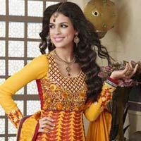 Orange Maroon Colour Party Wear Salwar Kameez