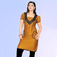 Dyed Cotton Kurti