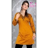 Jacquard Cotton Kurti
