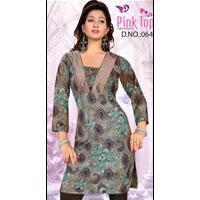 Printed Cotton Kurti 064