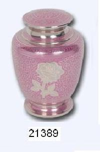 Beautiful Pink Rose Brass Cremation Urn
