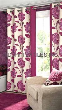 Screen Print Curtain Fabric and Curtains