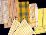 Madras Checks and Yarn Dyed Kitchen Towels, Dish Cloth