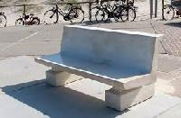back rest concrete bench