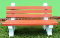 Concrete Garden Bench with Back Rest