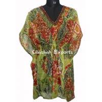 Cf3022 Chiffon Kaftan Dress Ladies Wear Kaftan Dress Beach..