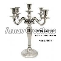 Nickel Finish Candle Holders