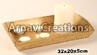 Wooden Tealight Candle Holders