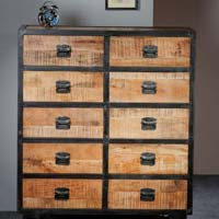 Mango Wood Treasure Box And Chest Of Drawers