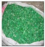 Green Color Pet Flakes