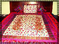 Embroidery Velvet Bed Cover