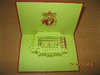 Anfield Stadium - Handmade 3d Greeting Card