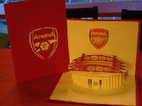 Arsenal - Handmade 3d Pop Up Greeting Card