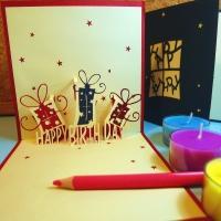 Birthday Gifts - Handmade 3D greeting card