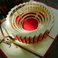 Colosseum- Handmade pop up greeting card